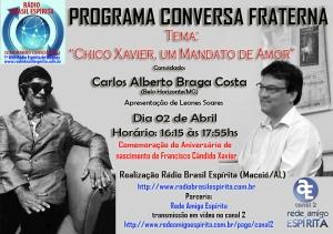 Cartaz Conversa Fraterna com Beto Costa