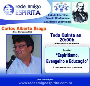 BANNER  ESPIRISTMO, EVANGELHO E EDUCAÇÃO Estudando Espiritismo -Beto-Toda Quinta